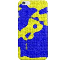 Abstract yellow blue iPhone Case/Skin