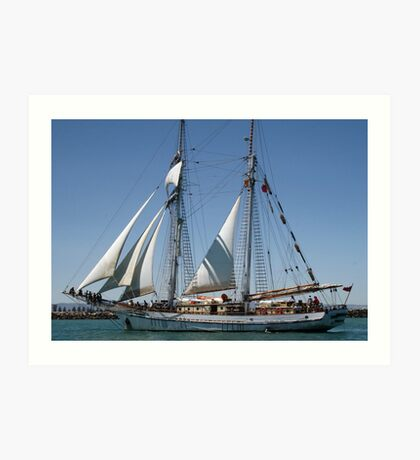 The One & All Brigantine Tall Ship - Youth Development Sail Training Art Print