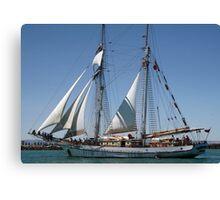 The One & All Brigantine Tall Ship - Youth Development Sail Training Canvas Print