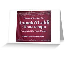 Vivaldi Greeting Card