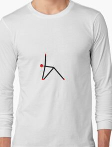 Stick figure of triangle yoga pose. Long Sleeve T-Shirt