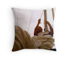 Tying Up The Sail Throw Pillow