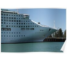 """Sun Princess"" Cruise Ship at Outer Harbour, South Australia. Poster"