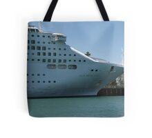 """Sun Princess"" Cruise Ship at Outer Harbour, South Australia. Tote Bag"