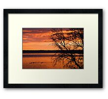 The Fires Of Dawn Framed Print