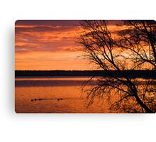 The Fires Of Dawn Canvas Print