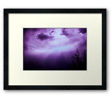 Outback Lights Framed Print