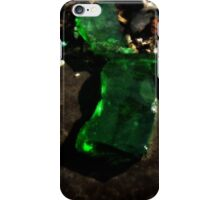 Green Glass Button iPhone Case/Skin
