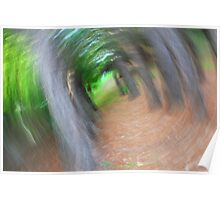 Blurred forest view Poster