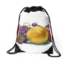 Fruit  Still Life Drawstring Bag