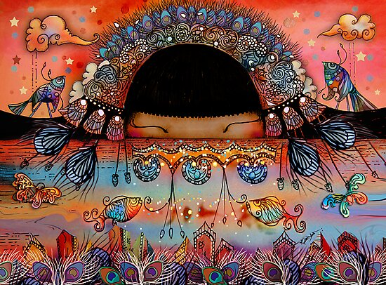 The Peacock Empress  by © Karin Taylor