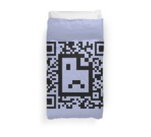 QR code - Webpage not available Duvet Cover