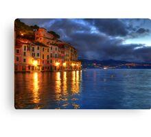 Portofino night Canvas Print