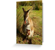 Wallaby and her Joey Greeting Card