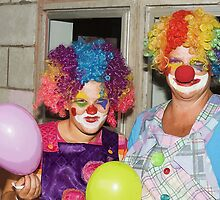 Mama & Daughter Clown by Warren. A. Williams