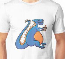 Dino reading Unisex T-Shirt