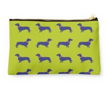 Sausage Dogs - blue & green  Studio Pouch