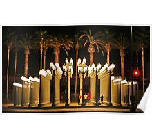 Lights outside LACMA Los Angeles Poster