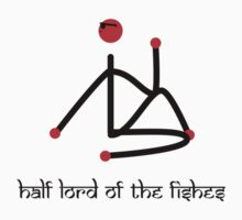Stick figure-Half lord of the fishes yoga pose Sanskrit Kids Tee