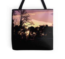 Campsite Sunset  Tote Bag