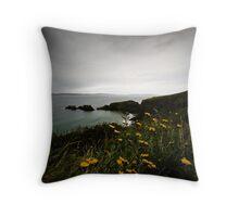 Flowers on the Antrim Coast, Northern Ireland Throw Pillow