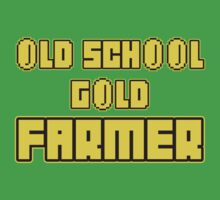 Old school gold farmer Kids Clothes