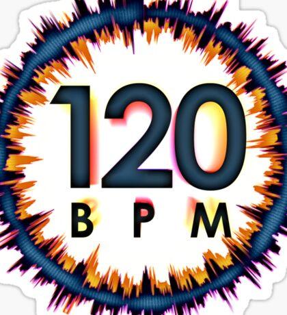 120 BPM Sticker