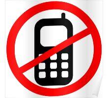 Mobile Phone Ban Poster