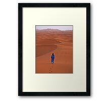 Sunrise in Erg Chebbi on edge of the Sahara Framed Print