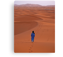 Sunrise in Erg Chebbi on edge of the Sahara Canvas Print