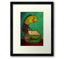 swimming in a fish bowl Framed Print