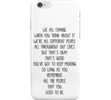 Doctor Who- We all change/We're all different people iPhone Case/Skin