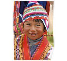 Peruvian boy Poster