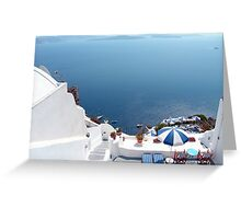 Santorini Caldera from Fira II Greeting Card