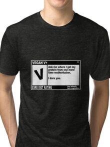 VEGAN, MOTHERFUCKER. Tri-blend T-Shirt
