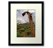 Bent Over Backwards Framed Print