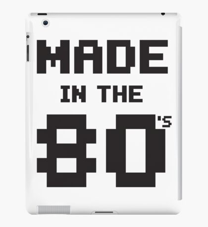 Made in the 80s iPad Case/Skin