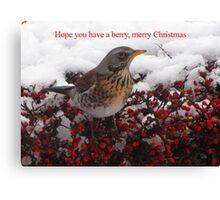 Berry, Merry Christmas Canvas Print