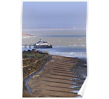Eastbourne promenade and seafront Poster