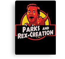Parks and Rex-Creation Canvas Print