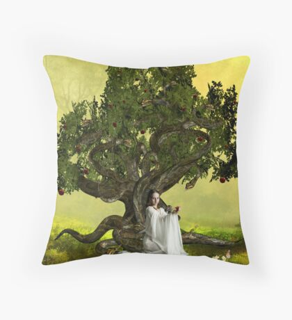 The Serpent Tree Throw Pillow