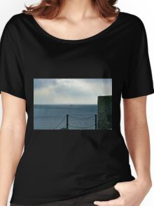 Fishing Boat leaving the Harbour  Women's Relaxed Fit T-Shirt