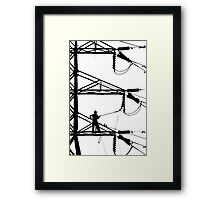 Electrical Line Worker Framed Print