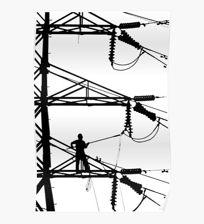 Electrical Line Worker Poster