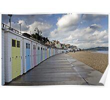 Beach huts at Lyme Regis Poster