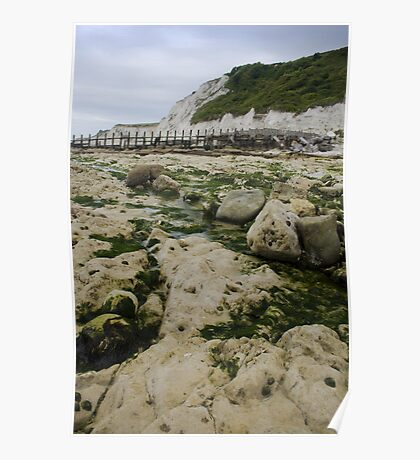 Holywell Beach, Eastbourne, East Sussex Poster