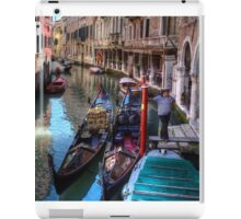 ...waiting for clients in Venice....  iPad Case/Skin