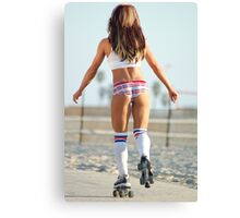 Roller skating beauty Canvas Print
