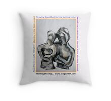 togetherness philosophy Throw Pillow