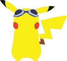 Pikachu Goggles Sticker  by GeekBass